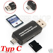 USB 2,0 3 in 1 Multi-Funktions SD Karte TF Triplett OTG Smartcard Reader Adapter