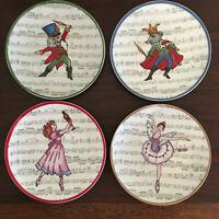 Avon 2013 porcelain Nutcracker Christmas 7-inch appetizer plates set of 4