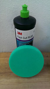 3M Perfect-it III Fast Cut Plus Compounding Polishing 50417 + 50487 green pad