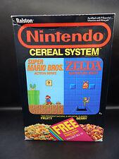 1988 vintage NINTENDO CEREAL SYSTEM Nintendo Power cards offer cereal box Zelda
