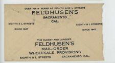 Mr Fancy Cancel Feldhusen's Mail Order Provisions 1920 Cvr #148