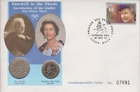 GB QEII PNC COIN COVER 1992 FAREWELL TO THE FLORIN  SMALLER 10p COIN
