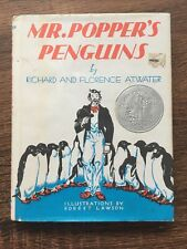 Mr. Popper's Penguins Hardcover Dust Jacket Newer Printing Book / A-1