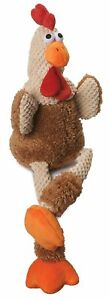 """GODOG SHERPA 20"""" SKINNY CORDUROY CHECKER ROOSTER TOY. TO THE USA"""