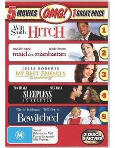 HITCH+MAID IN MANHATTAN=BEST FRIEND'S+SLEEPLESS IN SEATTLE+BEWITCHED DVD R4 NEW