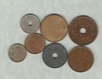 SEVEN DENMARK & ICELAND COINS 1922 TO 1948 IN FINE OR BETTER CONDITION