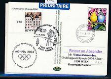 97823) AUA Olympiade So-LP Wien - Athen 13.8.2004, card GB/UK Jersey