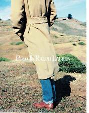 PUBLICITE ADVERTISING 115  1988  les manteaux homme POLO RALPH LAUREN