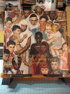 """Norman Rockwell Puzzle 500 PC The Golden Rule - 20"""" x 20"""" Springbok -"""