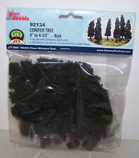"JTT Scenery Conifer Trees 4""-4.5"", 8/pk Super Scenic, 4/pk 92134"