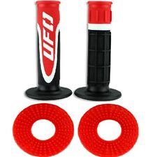 UFO AXIOM Triple density Motocross MX Enduro Grips Donuts Combo Deal Red