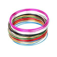 bulk 50 Coloful Metal Thin Skinny Smooth Hoop Bangles Stack Cuff Bracelet