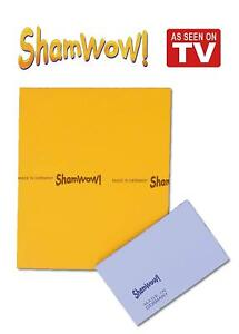Shamwow Super Absorbent Towels Original Sham-wow from Germany 1x Large 1x Small