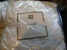 """Pottery Barn Teen Bohemian Lace Trim Bed Skirt twin 14"""" white New"""