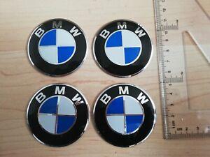4 x 56mm WHEEL HUB CAP SELF ADHESIVE BADGE FOR BMW