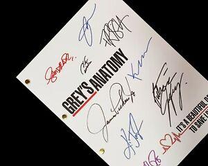 Grey's Anatomy Script Signature Autographs Reprint Ellen Pompeo Sandra Oh