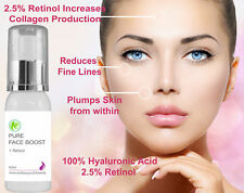 100% Hyaluronic Acid Infused with 2.5% Retinol Anti Ageing Plumping Serum 60ml