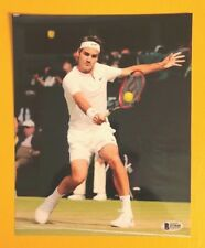 ROGER FEDERER SIGNED 8X10 TENNIS PHOTO BECKETT CERTIFIED POSE 5