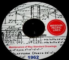 Missouri Pacific RR Maintenance of Way Standard Drawings PDF Pages on DVD