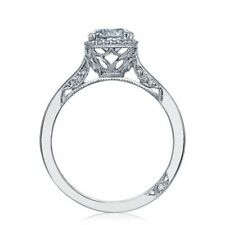 New Tacori Diamond Engagement Ring - 18 Karat White Gold Size 6.5 Semi Mount