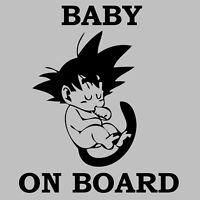Baby On Board Dragon Ball Z DBZ Kid Goku Car Truck Window Vinyl Sticker Decal