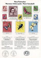 FAUNA_4504 1956 Switzerland butterflies FDC FOLDER A4 SHEET Combined payments