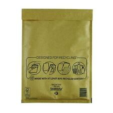 More details for pack of 50 mail lite bubble lined 240x330mm gold postal bags