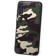 Pellicola Vetro+Custodia cover militare Mimetica per Samsung Galaxy A50 A30 A30s