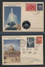 Vaticano 1950 2 interi postali usati N1678