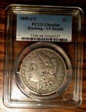 1889 CC - PCGS  VF, Very rare Morgan Silver Dollar. Small rim ding.
