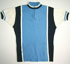 Bicycle jersey unknown wool vintage rare cycling t-shirt retro blue white
