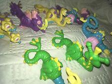 🐍7 Vtg 1980s Current Toy Interchangeable/Interlock Dragons/Sea Monsters/Krakens