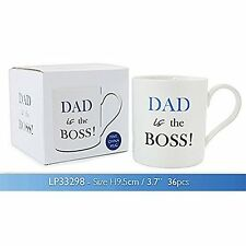 Dad The Boss Boxed Mug
