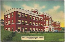 Charleroi-Monessen Hospital in Charleroi PA Postcard