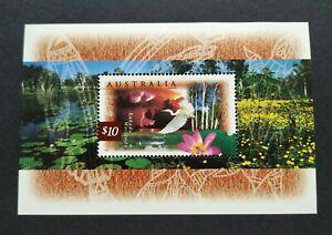1997 Australia Wetland Birds Miniature Sheet Stamp (A$10) 澳洲湿地鸟类高面值小全张邮票