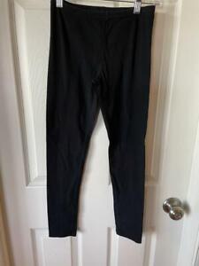 Cute OLD NAVY GIRLS size Large 10 -12 BASIC BLACK LEGGINGS Full Length Pull On
