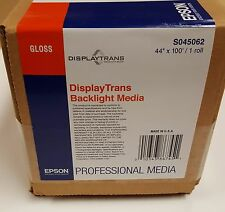 "44""x100' Epson Professional DisplayTrans Backlight Media - backlit film"