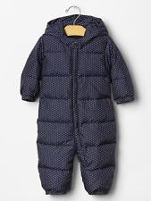 GAP Baby Girl 0-6 Months NWT Warmest Puffer Snowsuit / Jacket / Coat - Polka Dot
