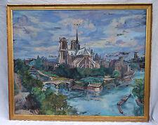 Notre Dame Paris André Hebuterne Paquebot Ile De France 1° Classe 1948 HST