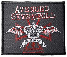 Avenged Sevenfold Hail To The King Crown Sew On Patch New & Official Band Merch