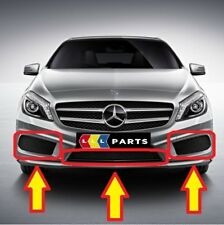 NEW GENUINE MERCEDES BENZ MB A CLASS W176 AMG FRONT BUMPER LOWER GRILL KIT SET