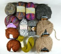LOT of 12 Skeins Ultra Soft Knitting Yarn Angora Mohair Cotton Soy Alpaca etc
