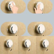 Chrome Home Bathroom Kitchen Vacuum Suction Cup Wall Sucker Hook Hanger