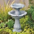 Double Bird Bath Fairy cottage Home Garden Craft Décor