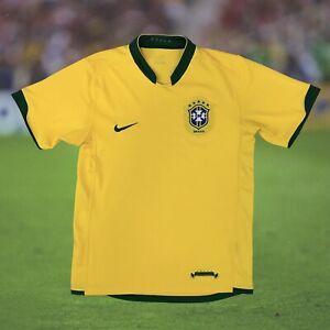Brazil 2006/08 International Home Soccer Jersey Small Nike Camiseta Futbol Retro