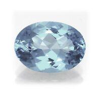 Natural London Blue Topaz 11mm x 9mm Oval Cut Gem Gemstone