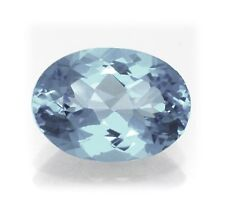 Natural London Blue Topaz 11mm x 9mm Oval Cut Gem Gemstone