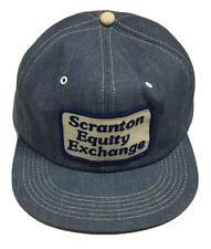 Vtg Scranton Equity Exchange Denim Patch Trucker Hat Made In The USA Cap Farming