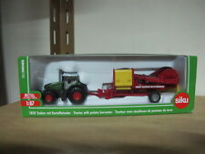 Fendt farm tractor with potato harvester toy car 1/87 siku 1808 free shipping