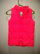 OLD NAVY Girls Youth Pink Puffer Vest Frost free  Size Large 10/12